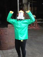 MECOP ChE Intern wearing chemical protection