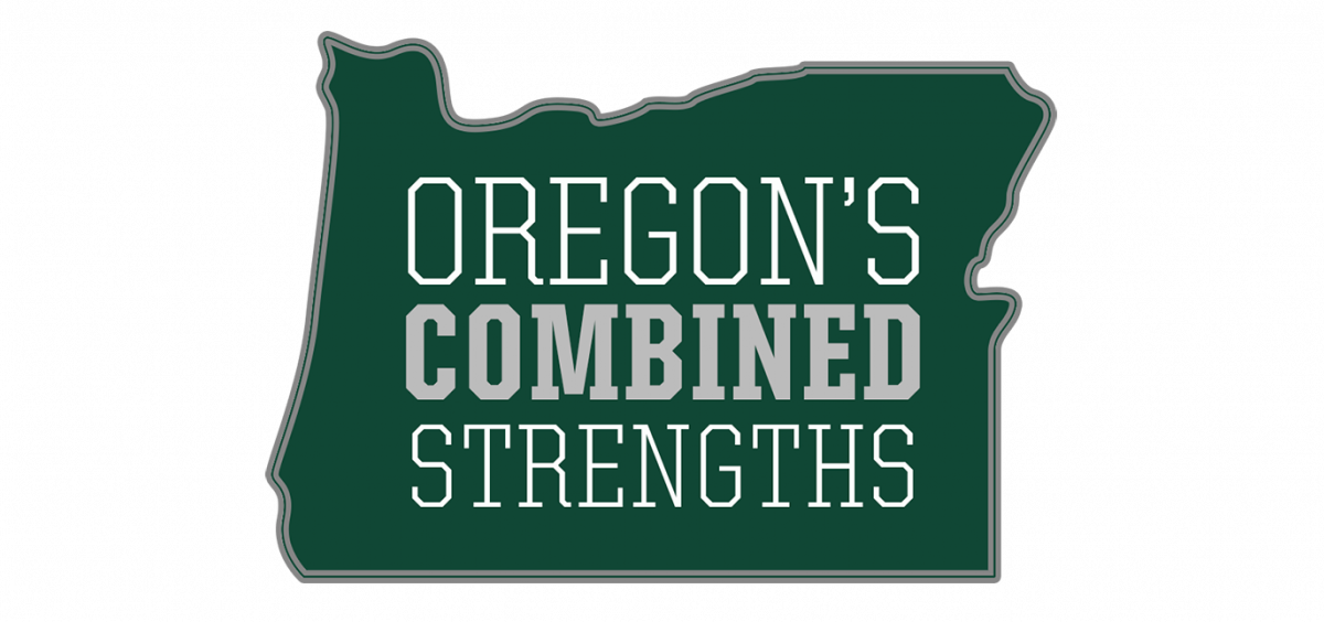 Oregon's Combined Strengths logo