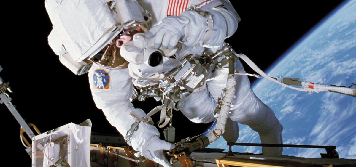 NASA Astronaut Donald R. Pettit performs an EVA.